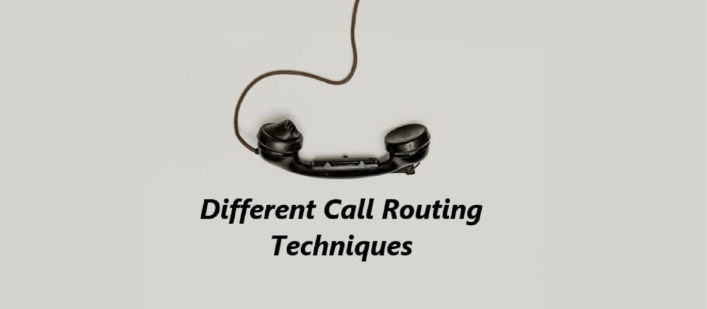 Different Call Routing